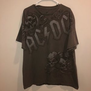 AC/DC Rock&Roll Liquid Blue Grayish Brown Shirt